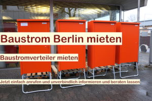 Baustromverteiler Berlin - Baustromverteiler mieten Brandenburg