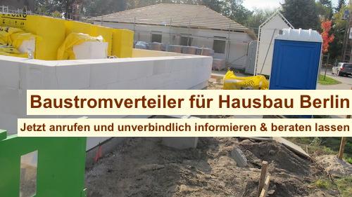 Baustromverteiler für Hausbau Berlin